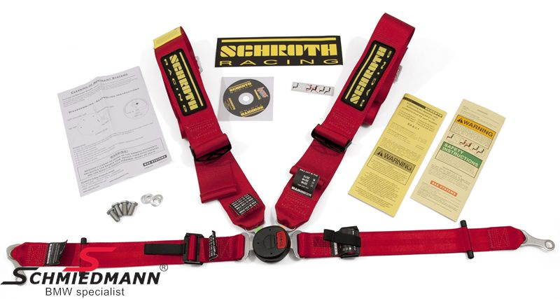 Racing 4 point restraints -Hosenträgergurt- Profi II-FE asm original -Schrothgurt- red L.-side