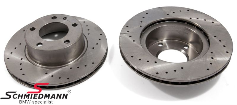Racing brake discs front 284X22MM ventilated with holes Zimmermann