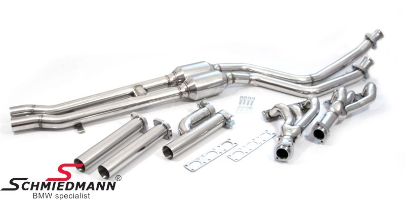 BMW E36 Schmiedmann High Flow Fächerkrümmer M50/M52 mit Sportkatalysatoren 300 Zellen