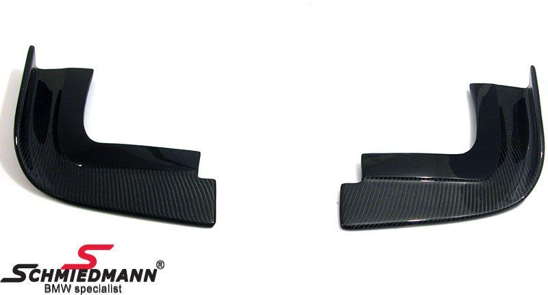 Frontspoiler lip set 2pcs for M-Technik / M5 frontspoiler genuine carbon