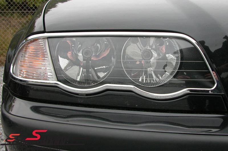 Chrom frame set for the headlights