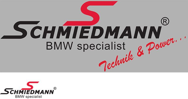 "Schmiedmann streamer -Technik & Power- lenght = 30CM red ""S"" and black text"