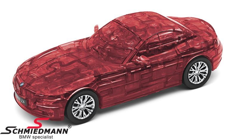 BMW Z4 3D-puzzle, 60 pcs. - transparent red scale 1:32