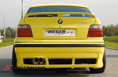 Hækskørte Rieger i E46 look