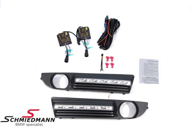 LED kørelys eftermonterings-sæt inkl. afdækninger til tågelygterne