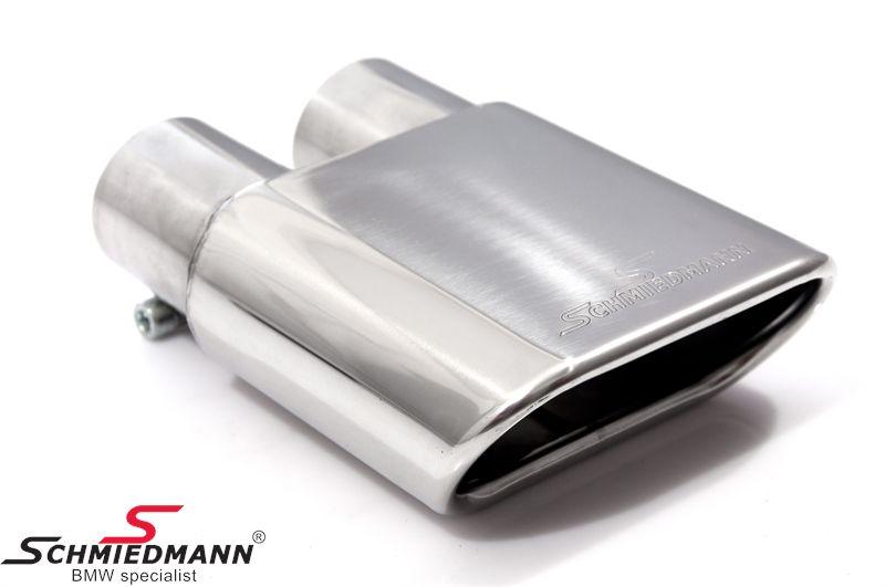 Schmiedmann chrom tailpipe 140X60MM flat-oval tailpipe