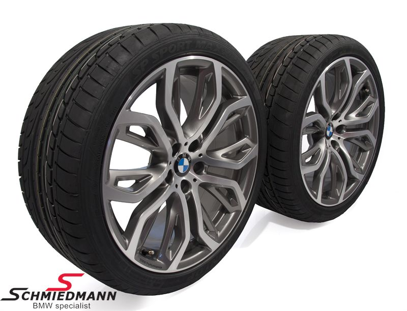 """21"""" 10+11,5x21 Performance Y-Speiche 375 jossa 285/35+325/30/21 (alkuperäiset BMW)"""