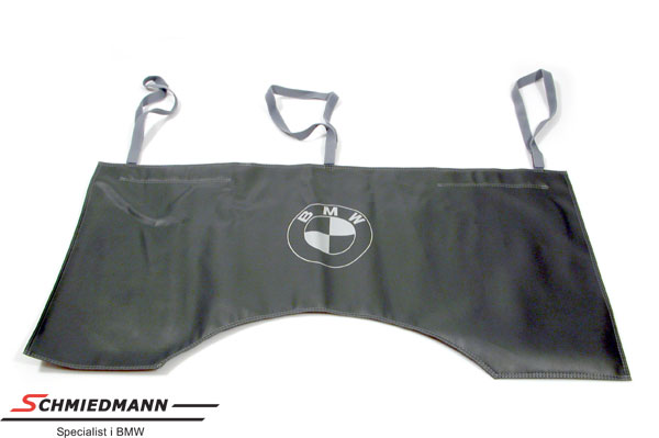 Original BMW protective cover for side panel with a big BMW logo