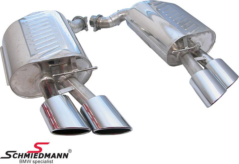 Eisenmann sportsudstødning 4 X 120X77MM flad ovale rørhaler