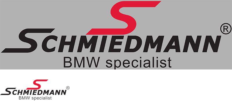 """Schmiedmann streamer -BMW specialist- = 30CM rødt """"S"""" tekst sort"""