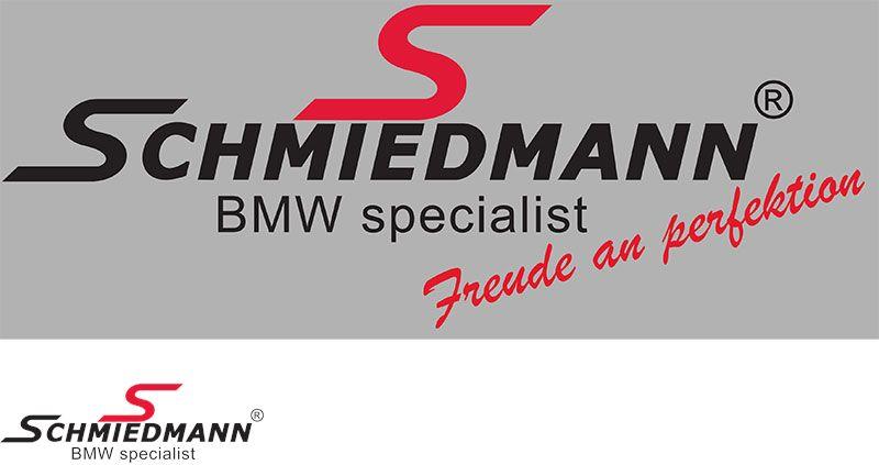 """Schmiedmann streamer -Freude an Perfektion- længde = 30CM rødt """"S"""" tekst sort"""