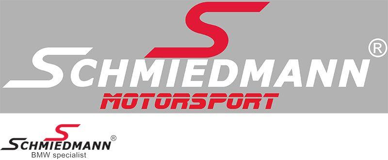 "Schmiedmann streamer -MOTORSPORT- = 30CM rødt ""S"" tekst hvid"