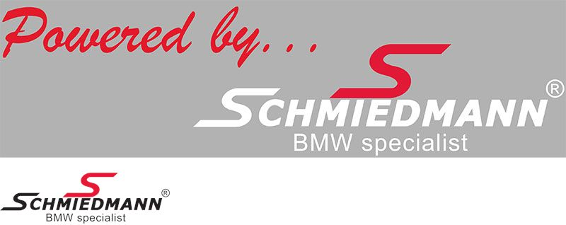 "Schmiedmann streamer -Powered by- lenght = 30CM red ""S"" and white text"