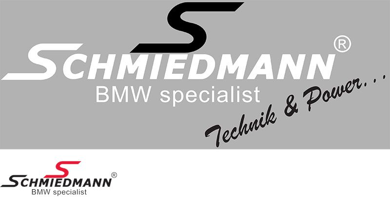 "Schmiedmann streamer -Technik & Power- lenght = 30CM black ""S"" and white text"
