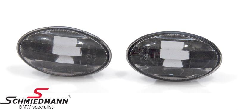 Sideblink sorte klarglas