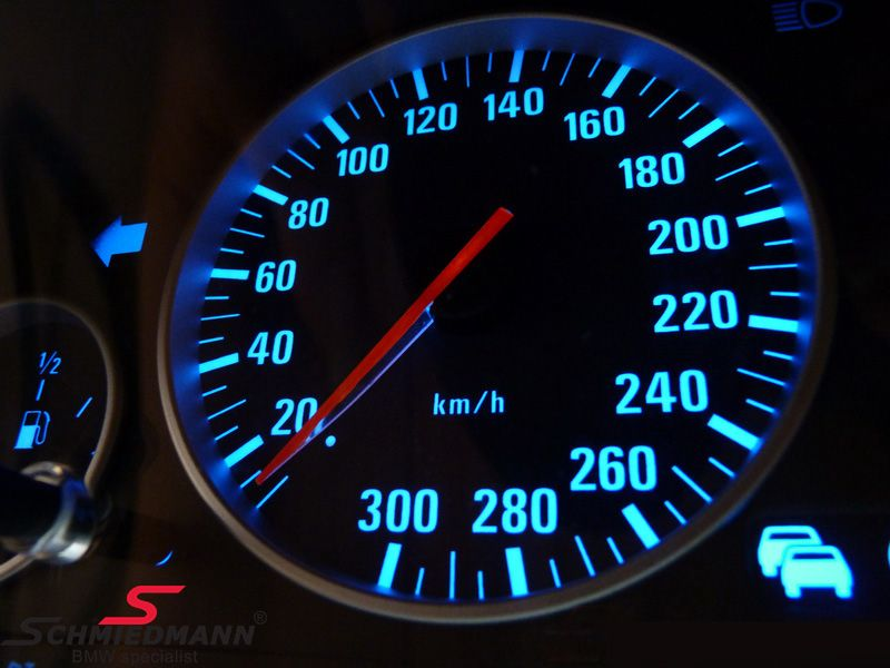 Color change in the instrument cluster, -blue illumination-, set SMD bulbs