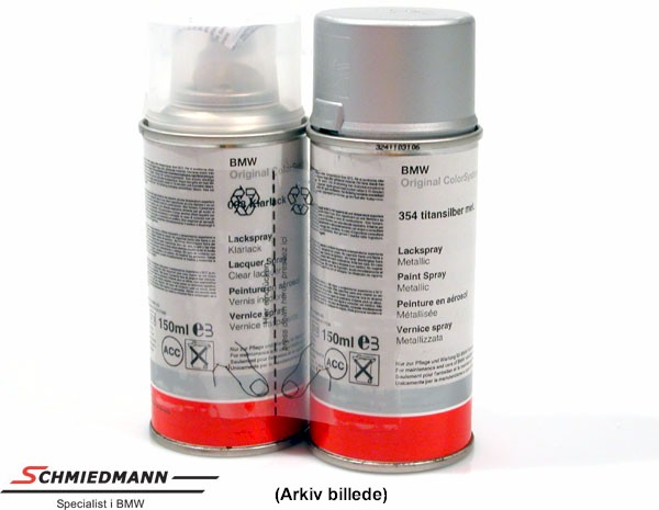 Paint work spray (paint/clearpaint) Oxfordgrün met. 324