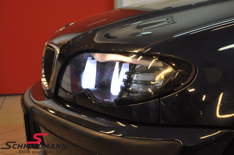 Fl3d46ns Headlights H1 H7 Black 3d Led Angel Eyes With