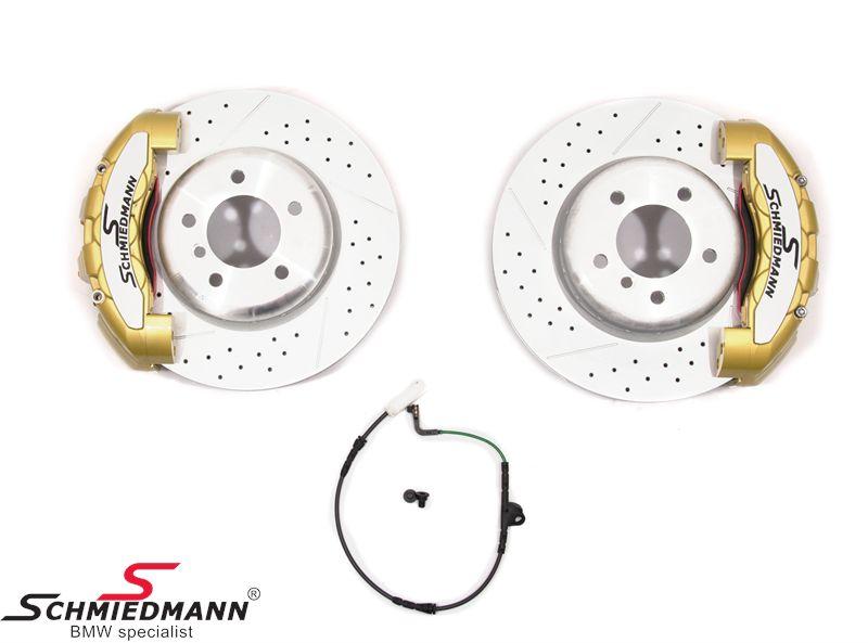 Schmiedmann -S-Tech.- racerbremse-sæt for 338X26MM 6 stemplede gule kalibre