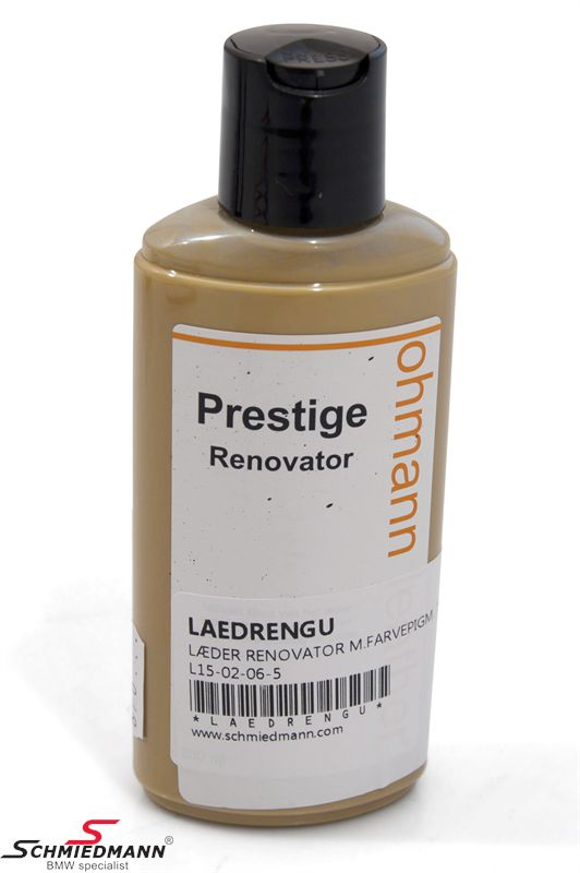 Leather renovation with colour pigments for yellow coloured leather 200ML bottle