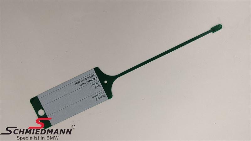 Eredeti BMW szerviz kulcstartó - zöld