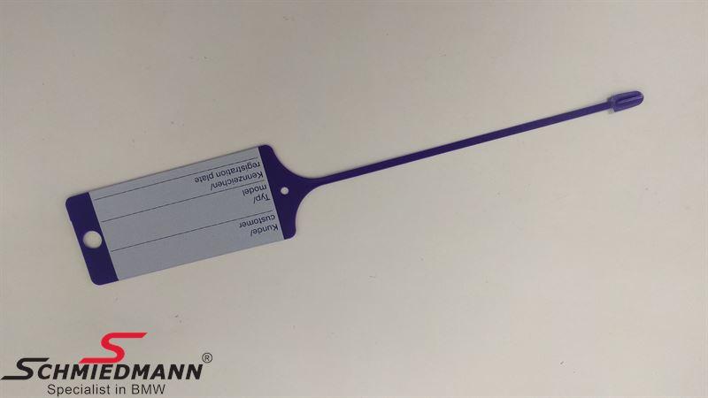 Eredeti BMW szerviz kulcstartó - lila