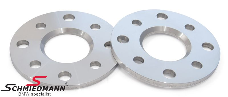 Wheel spacer set alloy, Per axle 16MM (8MM each side/wheel), not hubcentric - system 5, supplied without bolts