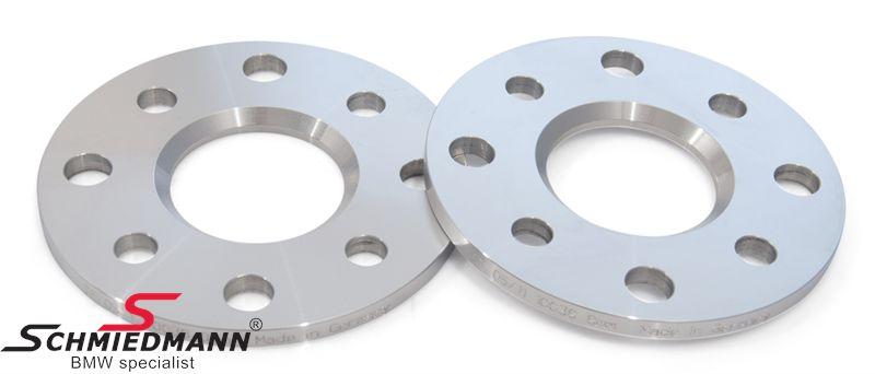 Hjulspacer alu sæt i alt 16MM pr. aksel (8MM pr. side/hjul) 4 huls uden centrering system 5 uden bolte