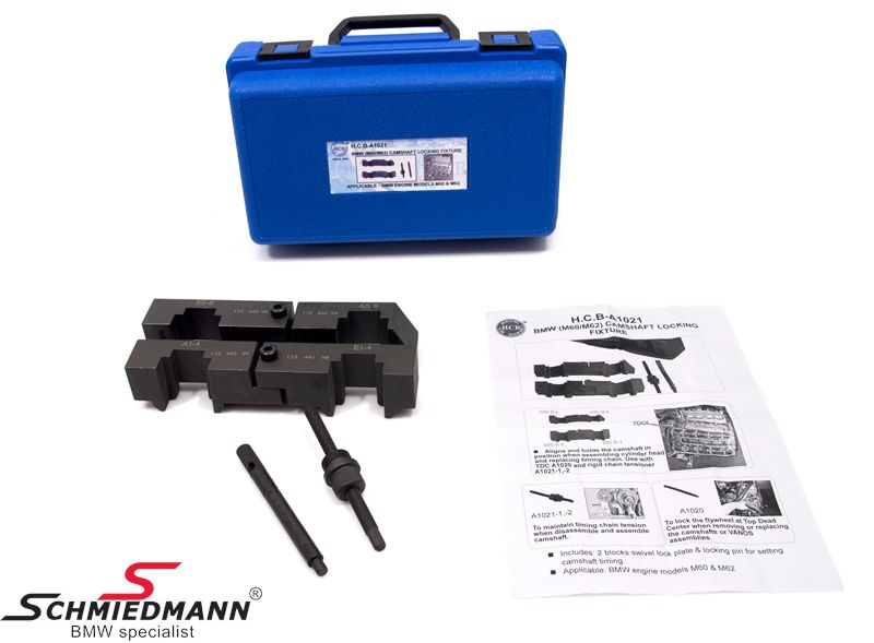Camshaft alignment tool set for M60/M62 engines