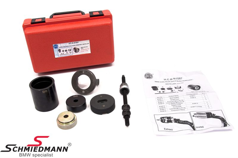 Trailing arm outer bush remover/installer special tool set (The work can be done directly on the car)