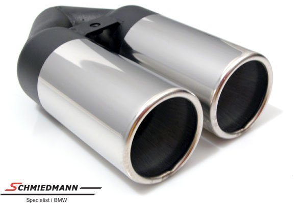 Simons chrom tailpipe double round 2X80MM L=240MM