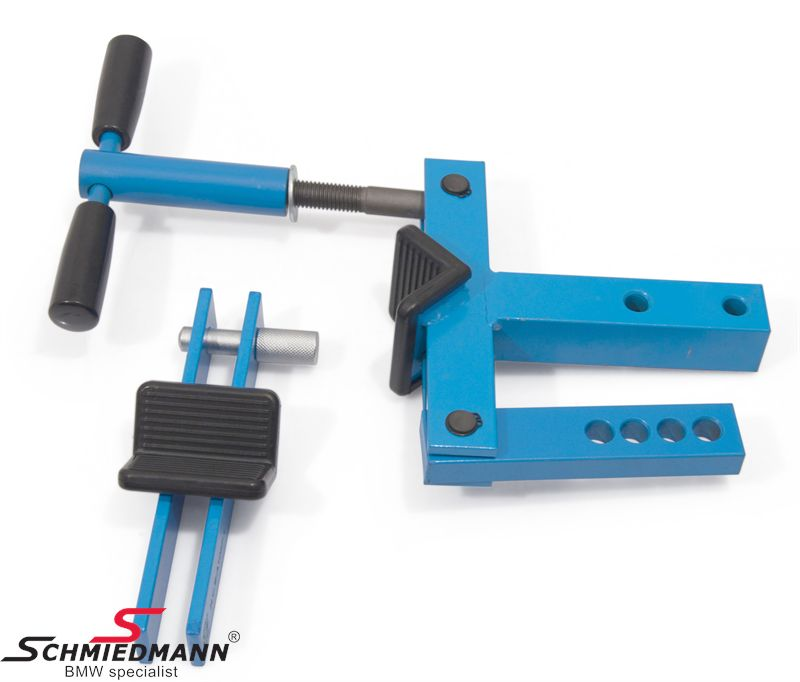 Strut/shock holding vise - to be used in a clamp