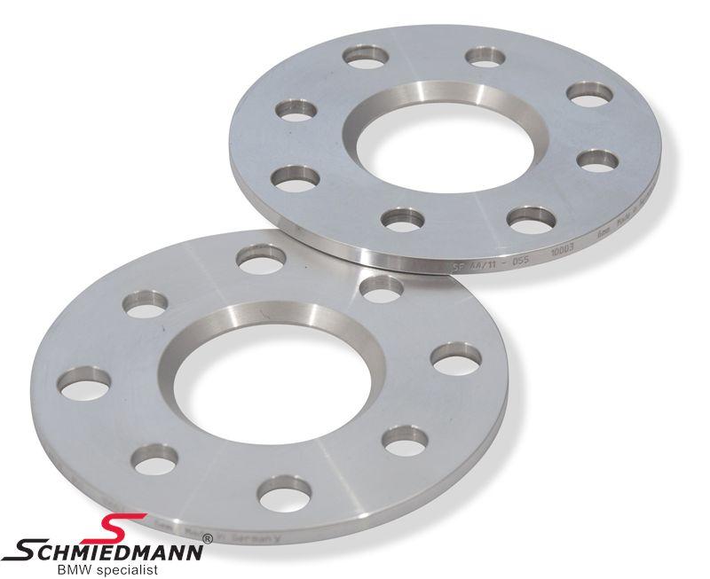 Hjulspacer alu sæt i alt 12MM pr. aksel (6MM pr. side/hjul) 4 huls uden centrering system 5 uden bolte
