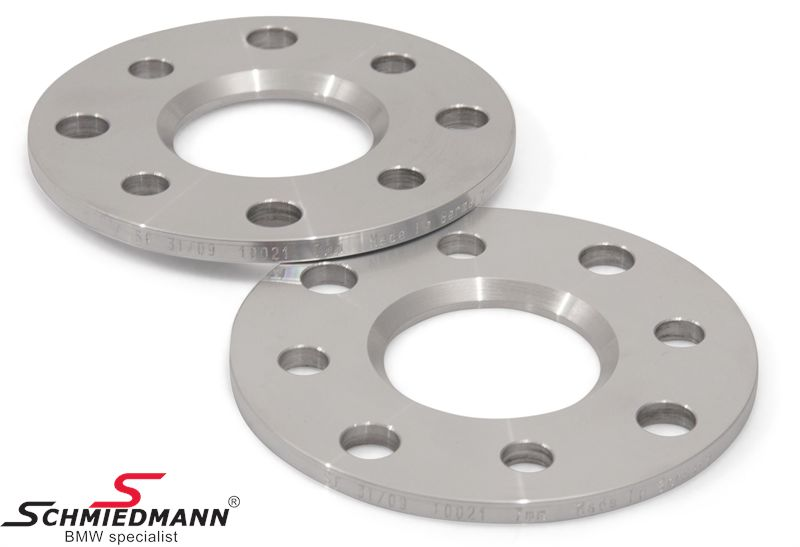 Wheel spacer set alloy, Per axle 14MM (7MM each side/wheel), not hubcentric - system 5, supplied without bolts