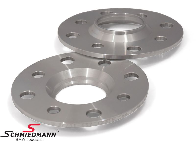 Wheel spacer set alloy, Per axle 8mm (4mm each side/wheel), not hubcentric - system 5, supplied without bolts