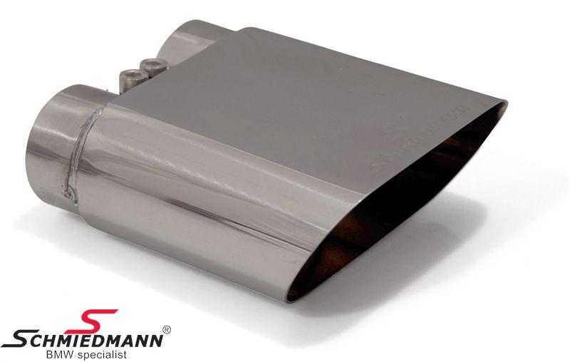 Schmiedmann krom-rørhale med skarp afslutning (ikke rullet) 1 X 140X60MM flad oval rørhale