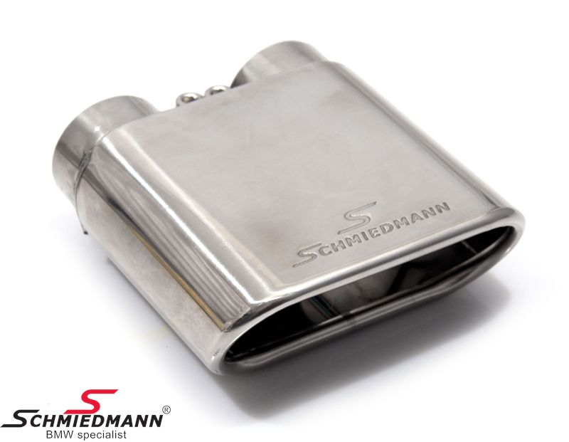 Schmiedmann krom-rørhale 1 X 140X60MM flad oval rørhale