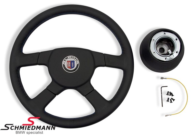Sport steering wheel leather 4 spoke original Alpina D=380MM