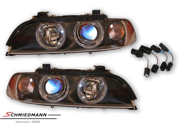 BMW E39 Hauptscheinwerfer-Satz Facelift 2000 Hella ohne Xenon mit weissen Blinkern