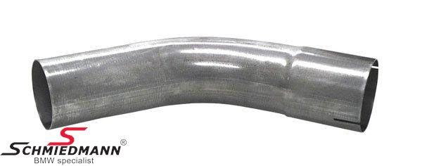 """Simons 2,5""""  forbindelses-rørbøjning 45gr. med muffe rustfrit stål"""