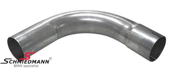 """Simons 2,5""""  forbindelses-rørbøjning 90gr. med muffe rustfrit stål"""
