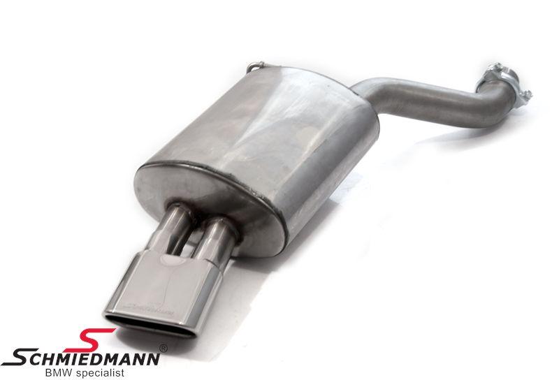 Schmiedmann rustfri-stål sportsbagpotte 1 X 140X60MM flad-oval rørhale (udskiftelig rørhale)