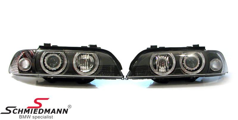 Forlygter -Depo- xenon facelift ombyg.-sæt D2S Philips/H7 m.hvide blink med xenon