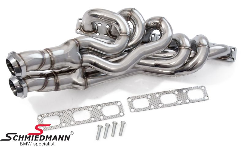 Schmiedmann High Flow Sport Manifold M52 M54 Inclusive 400cell Euro3d4 Metal Sport Catalysts Pipes From The Catalyst To The Rear Silencer Is Not