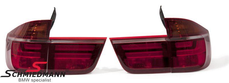 Baglygte-sæt røde facelift upgrade med LED striber original BMW