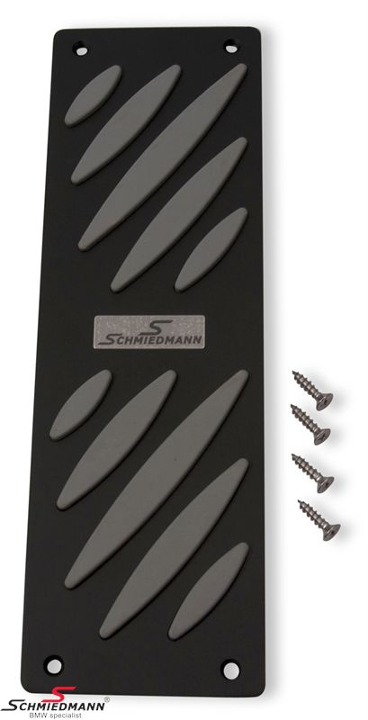 Schmiedmann alloy footrest black/grey -Exclusive- with inserted logoplate