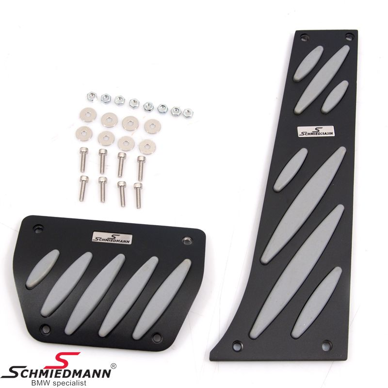Schmiedmann alloy pedal set black/grey -Exclusive- with inserted logoplates