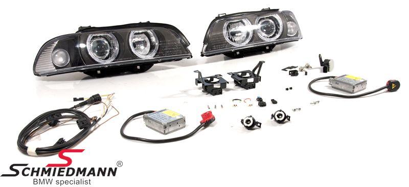 BMW E39 Nachrüstsatz D2S Xenon-Satz (Strassenlegal) -Depo- Facelift 2000 Scheinwerfer mit Xenon und weisse Blinker, Satz ohne Scheinwerfer-Waschanlage