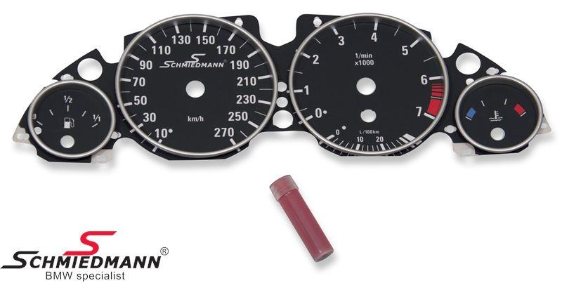 Schmiedmann special instrumenterings ombygnings-sæt (sort) med tophastigheds-udvidelse (uden fejlvisning)