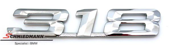 """Emblem bagklap """"318"""""""